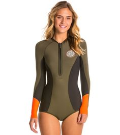 01c5ba9dcc Rip Curl Women s G-Bomb 1MM Long Sleeve Booty Spring Suit Wetsuit at  SwimOutlet.