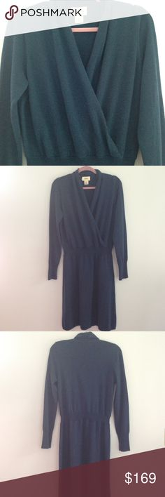 Neiman Marcus Cashmere Dress Teal, 100% cashmere team dress by Neiman Marcus Cashmere Collection in a size Large, never been worn Neiman Marcus Dresses Long Sleeve