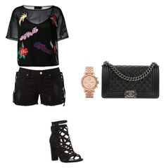 """🔝🔝"" by aandreead on Polyvore featuring Philipp Plein, Amapô, GUESS, Chanel and FOSSIL"