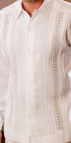 Exquisite Guayabera for Wedding design. Hand Craft-Best quality EVER ! Irish sublime soft Linen Guayabera for wedding. Dry clean a must. Wedding Outfit For Boys, Guayabera Shirt, Mexican Shirts, Wedding Men, Wedding Beach, Trendy Wedding, Custom Made Clothing, Formal Shirts, Kurta Designs