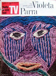 Detail Violeta Parra Textiles, Guache, Arte Popular, Embroidery Art, Art For Kids, 1970s, Canvas, Chile, Type