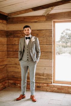 Celestial Wedding Ideas Filled With Stars & Festive Vibes Tweed Wedding Suits, Blue Suit Wedding, Wedding Men, Wedding Attire, Wedding Ideas, Grey Wedding Suits For Men, Best Wedding Suits, Groom And Groomsmen Attire, Groom Outfit