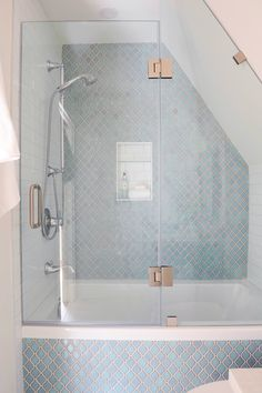 Powder blue bathroom by Madeleine Design Group in Vancouver, BC. Blue Bathroom, Renovations, Bathroom Renovation, Interior Design Firms, Metal Fireplace, Dining Nook, Character Home, Blue Accent Walls, Bathroom