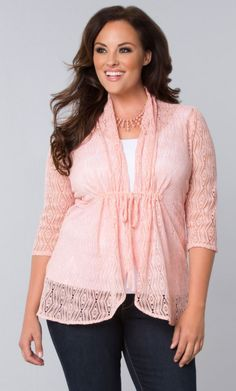 Bohemian Crochet Bellini, Blushing Pink (Women's Plus Size) From the Plus Size Fashion Community at www.VintageandCurvy.com
