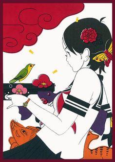 Nakamura Yusuke 中村佑介 illustration book cover for Akagawa Jirō. Manga Illustration, Illustrations, Character Illustration, The Tatami Galaxy, Pop Art, Tarot, Art Japonais, Japanese Artists, Animation