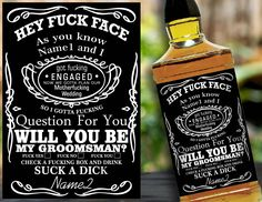 Will you be my Groomsman Label for Whiskey, Groomsman Proposal, Groomsman Gift, Asking Groomsmen, Wedding Invitation Labels, Groomsmen Card by BootleLabel on Etsy https://www.etsy.com/listing/545458620/will-you-be-my-groomsman-label-for