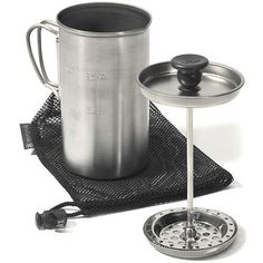 Camp coffee is always a must! Take your brew further up the mountain with this ultra-light titanium press.