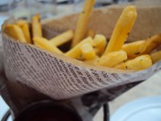 Black truffle frites cooked in goose fat. Absolutely unbelievably fantastic.