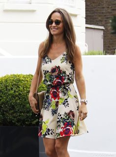 Pin for Later: Pippa Middleton's Floral Dress Is a Throwback to Kate's Prewedding Style Pippa Wearing a Breezy Summer Dress in 2016