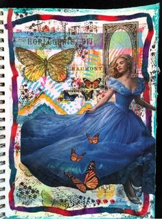 CREATIVITY IS CONTAGIOUS: MORE MAGAZINE PEOPLE ART JOURNAL PAGES; Nov 2015 #creativityiscontagious #artjournal