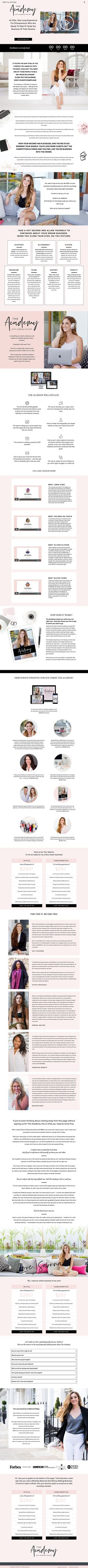 Sales page design for Sabrina Philipp Web Design, Page Design, Design Ideas, Design Inspiration, Color Palate, Personal Branding, Branding Design, Website, Awesome