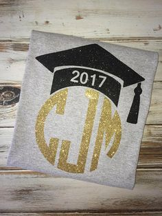 Graduate monogrammed shirt Graduation shirt Senior year