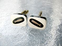 Vintage Sterling Silver Cufflinks Atomic by SentimentalVintager