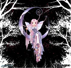 "Moon Fairy | This ""moon fairy"" picture was created using the Blingee free online ..."