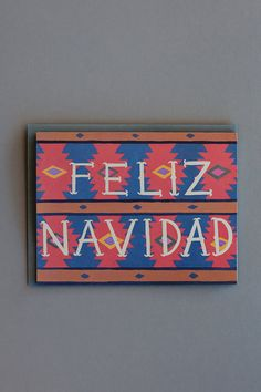 Feliz Navidad Card // Set of 8 by smalladventure on Etsy Renegade Craft Fair, Holiday Gifts, Recycling, Objects, Stationery, Adventure, Festivals, American Girl, Illustration