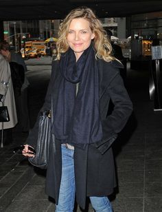 And coats and scarves again, this time on Michelle Pfeiffer.