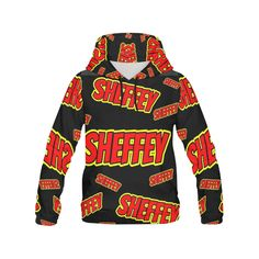 Sheffey - Red and Yellow Comic Fonts 9719 All Over Print Hoodie for Women (USA Size) (Model H13)