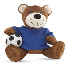 Ursuletul fotbalist - 30 RON    Un ursulet pufos si zambaret, o mascota pefecta pentru pasionatii de fotbal. Teddy Bear, Toys, Animals, Activity Toys, Animales, Animaux, Clearance Toys, Teddy Bears, Animal