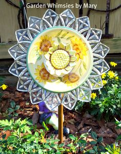 Plate flower - Garden Whimsies by Mary