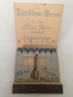 Hotel Pierre, New York Matchbox