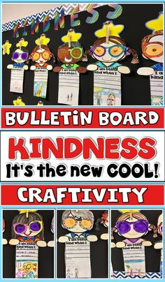 """Kindness is the New Cool is a super cute Craftivity and Bulletin Board set. Whether you're just starting the year off, heading down the home stretch, or are smack dab in the middle of it, you need this Kindness Lesson and Fabulous Bulletin Board Display! This works great with """"Have You Filled a Bucket Today"""" by Carol McCloud."""