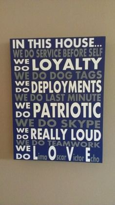 In This House...military version by WordArtTreasures on Etsy