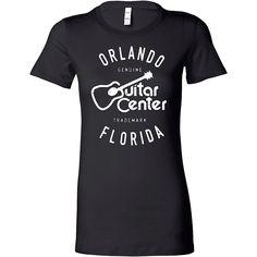 Guitar Center Ladies Orlando Fitted Tee Medium