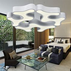 High Quality New Modern Contracted LED Pendant Lights /Living Room / Bedroom / Dining Room /Study Room/Office Metal 4853782 2016 – £251.99