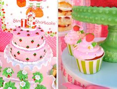 Vintage Strawberry Shortcake Cake & Cupcakes by Aracely from Minted and VIntage