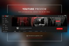 Creative YouTube Banners by BlilDesign on @creativemarket Youtube Design, Youtube Banner Design, Youtube Banners, Youtube Banner Backgrounds, Music Backgrounds, Free Youtube, You Youtube, Banner Musik, Cover Photo Design