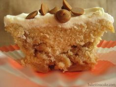 Apple Crisp Caramel Cupcake With Vanilla Buttercream and Cinnamon Chips   Bake It in a Cake