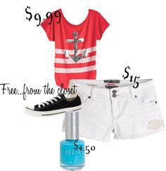 """""""Delias Summer $30 Outfit 6"""" by liberumavis on Polyvore"""