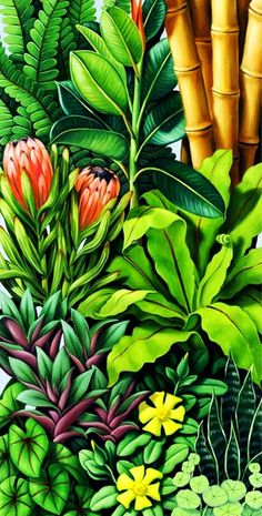 pinturas-verticales-de-flores-al-oleo