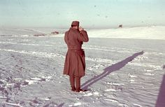 Hungarian soldier photographed winter landscape near the village of Ivanovka Khokholsky Voronezh region.