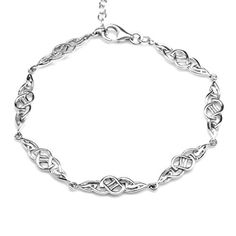 cool 925 Sterling Silver Celtic Knot 7.25-8.75 Inch Adjustable Bracelet