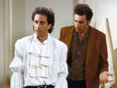 """Seinfeld - One of the most popular TV comedies ever. Pictured is Jerry in his """"pirate shirt."""" The last episode was May 14, 1998 and was watched by close to 76 million people!"""
