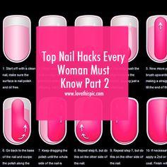 Top Nail Hacks Every Woman Must Know Part 2 nail nail art manicure girly nails nail ideas nail ideas for girls nail hacks