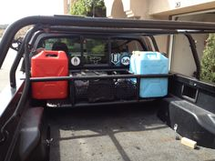 Tacoma bed can and tool storage - Expedition Portal Toyota Trucks, 4x4 Trucks, Cool Trucks, Truck Bed Storage Box, Tool Storage, Lumber Storage, Tacoma Bed Rack, Jdm, Muscle Cars