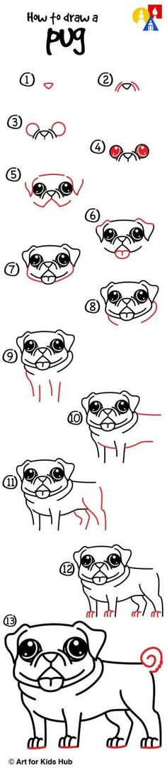 How to draw a pug! by loretta