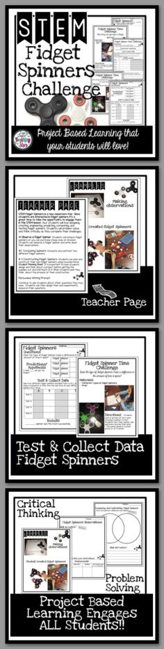 Fidget Spinner STEM Activity is a packet of experiments your students will love! Fidget Spinners are the latest trend in classrooms! Even though it might drive you crazy, it will engage your students in learning about collecting data, making observations, and opinion writing. Students will SPIN for this activity!