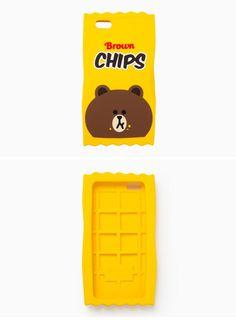 韓国オリジナル ポテトチップ ハンバーガー熊クマ ブラウンiPhone7/7 Plus/6plusケース5s立体キャラクター 6sシリコン携帯カバー5/SE