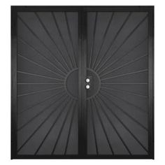 Unique Home Designs, Solana Black Double Outswing Security Door, At The Home  Depot   Tablet