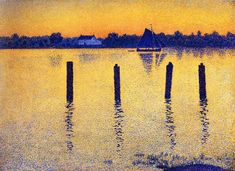 Sailboats on the River Scheldt by Theo van Rysselberghe.