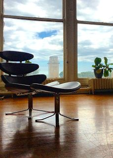 Closer Looks: Poul Volther's Corona Chair and Ottoman