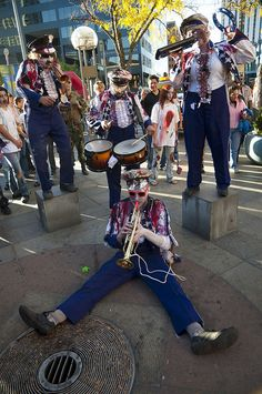 zombie marching band!    6th annual zombie crawl, downtown denver.