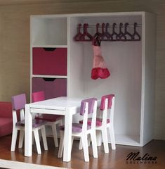 "Polubienia: 25, komentarze: 4 – Malina Dollhouse (@malina_dollhouse) na Instagramie: ""Wardrobe and table with chairs I made for my friend some time ago. #woodworking #woodtoy #plywood…"""