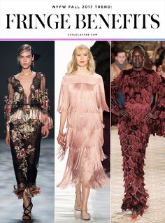 The Top NYFW Fall 2017 Trends: FRINGE ( Marchesa; Erin Fetherston; Christian Siriano )  | FW 2017 Runway