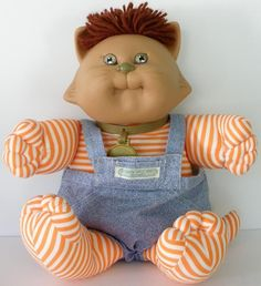 Vintage 1985 Cabbage Patch Kids Koosas Cat Chien Doll #Coleco #DollswithClothingAccessories