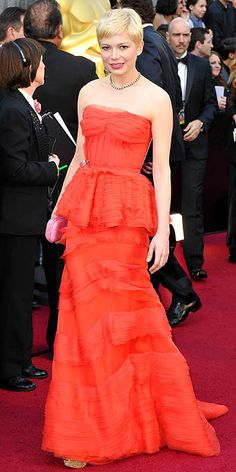 Michelle Williams in Louis Vuitton #oscars #fashion
