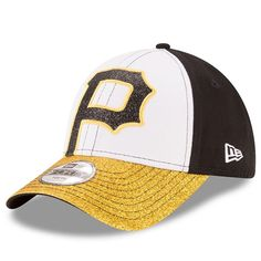 Youth New Era Pittsburgh Pirates Shimmer Shine 9FORTY Adjustable Cap, White